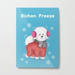 Bichon Freeze Metal Print