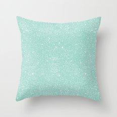 Pastel Turquoise Glitter Throw Pillow