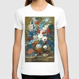 "Jan van Os  ""Flower still life with a bird's nest on a ledge"" T-shirt"