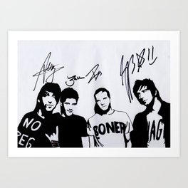 ALL TIME LOW SIGNED Art Print