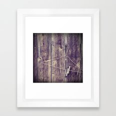 Hang in there. Framed Art Print