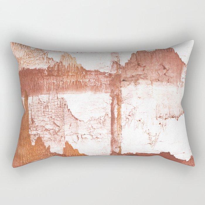 Sienna nebulous wash drawing Rectangular Pillow