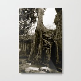 Ta Prohm (aka the Tomb Raider Temple) Metal Print