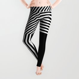 Geometric abstraction, black and white Leggings