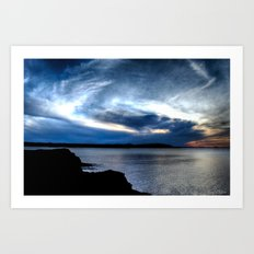 'Twilight on Superior' Art Print