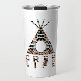 Cree Life - Pattern Tiipii Travel Mug