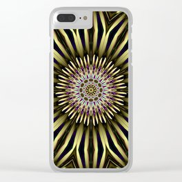 Hypnotic flower Clear iPhone Case