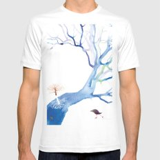 SKATING THE RIVERTREE Mens Fitted Tee White MEDIUM