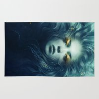 ink Area & Throw Rugs featuring Ink by Anna Dittmann