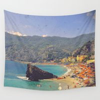 postcard Wall Tapestries featuring Sending You A Postcard From Italy by ZBOY