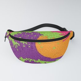 The Great Wave in neon Fanny Pack