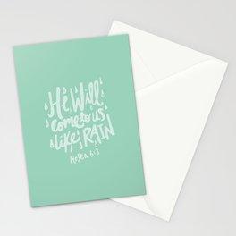 Hosea 6: 3 x Mint Stationery Cards