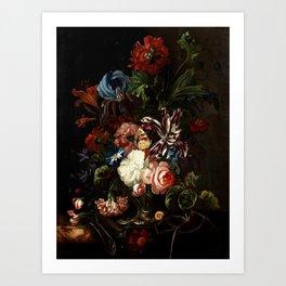 """Ernst Stuven """"Still life of flowers"""" Art Print"""