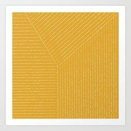 Lines / Yellow Art Print