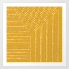 Lines (Mustard Yellow) Art Print