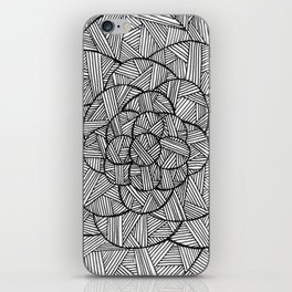 Crosshatched Flower iPhone Skin