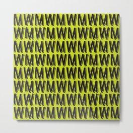 M or W Metal Print