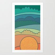 Evening Sun Art Print