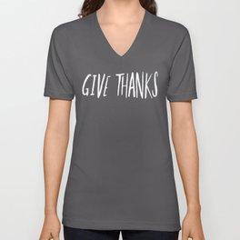 Give Thanks x Rose Unisex V-Neck