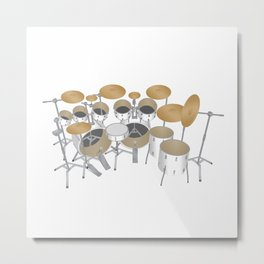 White Drum Kit Metal Print