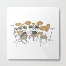 White Drum Kit Metal Print