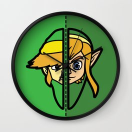 Old & New Link Comparison Wall Clock