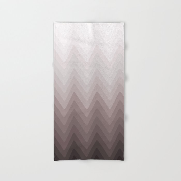 White Beige Gray Brown Ombre Hand Bath Towel By Luciena Society6