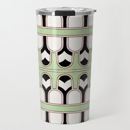 Vintage Mint Green Assyrian Pattern with a hint of Art Deco Travel Mug