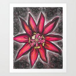 Passion Flower Pura Vida Art Print