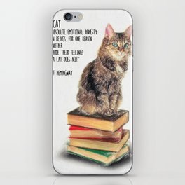 Cat Quote By Ernest Hemingway iPhone Skin