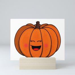 The happy pumpkin Mini Art Print