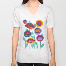 raw flower garden Unisex V-Neck