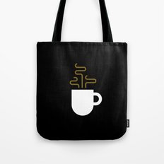 Coffee Cup Black Tote Bag