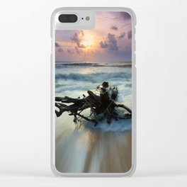 Driftwood Clear iPhone Case