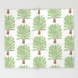 Palm Tree – Green Throw Blanket