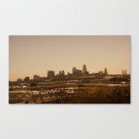 kansas city Canvas Prints featuring kansas city by sannngat
