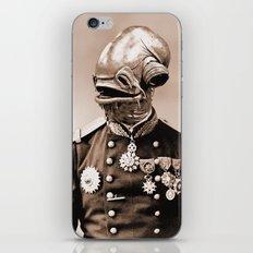 Portrait of Sir Ackbar iPhone & iPod Skin