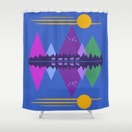Wolf Pack Passage Shower Curtain