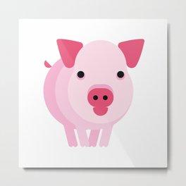 Minimalistic wildlife 07 –Mini pig Metal Print