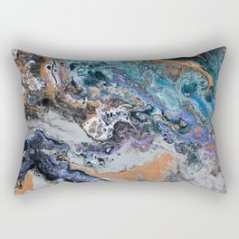 Molten Time (flow art on canvas) Rectangular Pillow