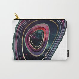 Teal and Pink Mystic Agate Carry-All Pouch