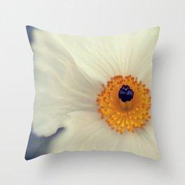 White Argemone Flower Photograph Throw Pillow