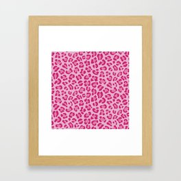 Leopard - Lilac and Pink Framed Art Print