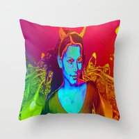 witchcraft Throw Pillows featuring Witchcraft by ICARUSISMART