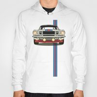 martini Hoodies featuring Martini Mustang by Marius Dumitrascu