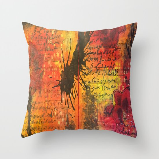 Symphony In Red Throw Pillow