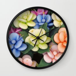 Sugared almonds as petals Wall Clock