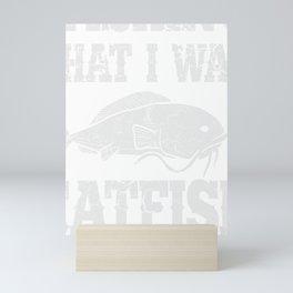 Fisherman Catfish Fishing Fish Wish Hobby Gift Mini Art Print