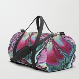 Colorful abstract marbling Duffle Bag
