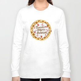 Ovaries Before Brovaries Waffle Long Sleeve T-shirt
